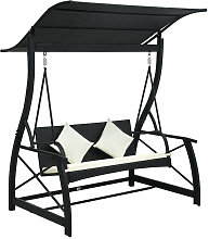 Asupermall - Hollywoodschaukel 3-Sitzer Mit Dach