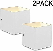 Asvert LED 5W Wandleuchte Aluminium Innen Cube