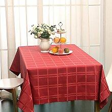 Asvert Tischdecke anti fleck130x180 cm Moderne Stil Flüssigkeit Beständig für Rechteckigen Esstisch Küche Garten und Bar, Ro
