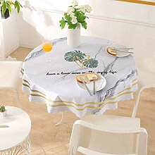 Asvert Tischdecke Rund PVC Wasserdicht