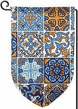 aswr852 Spanische Keramik Blau Orange Fliese