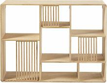 Asymmetrisches Regal aus Eichenholz