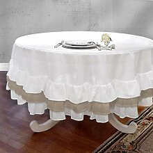 AT17 Tischdecke Tischtuch Tafeltuch Rund mit