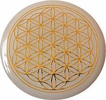 atalantes spirit - Blume des Lebens-Aufkleber als Doming-Sticker mit 3D-Reliefprägung, selbstklebend - Größe Ø 3 cm - Lebensblume Farbe: gold - 5 Stück im SET