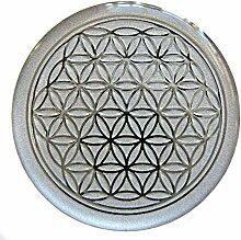 atalantes spirit - Blume des Lebens-Aufkleber als Doming-Sticker mit 3D-Reliefprägung, selbstklebend - Größe Ø 3 cm - Lebensblume Farbe: silber - 5 Stück im SET