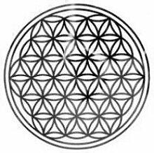 atalantes spirit Blume des Lebens-Aufkleber - Farbe silber - Ø 3 cm - 20 Stück - Druck auf transparenter Folie - Lebensblume-Sticker im SET