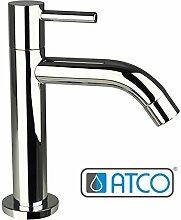 ATCO® STILO Kaltwasser Armatur Standventil Wasserhahn Waschtisch Einhebel Ventil vc