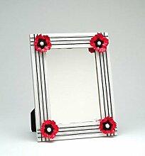 ATD® 40410Fußmatte 35,6cm weiß und rot Poppy Flower gestreift Wandspiegel
