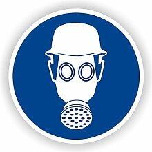 Atemschutz und Kopfschutz benutzen / Gebotszeichen