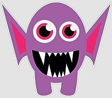 atFoliX Aufkleber Monster Dorian Größe L FX-Sticker (Luftkanaltechnologie - wieder ablösbar)