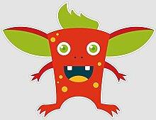 atFoliX Aufkleber Monster Richy Größe L