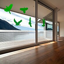 atFoliX Glasdekorfolie Vogelschutz Set XL Farbe