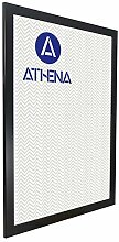 Athena Bilderrahmen, 60 x 80 cm, satiniert, Schwarz