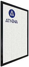 Athena Bilderrahmen, glänzend, 60 x 80 cm, Schwarz