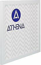 Athena Dünn Weiß glänzend Bilderrahmen, 40 x 40