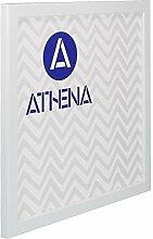 Athena Dünn Weiß glänzend Bilderrahmen, 50 x 50