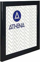 Athena Glanzschwarz Bilderrahmen, 30 x 30 cm