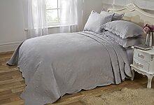 Athens Grau Tagesdecke geprägten Bettüberwurf,