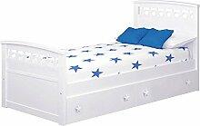 ATLAMP Kinder Bettwäsche Sterne mit Schubladen