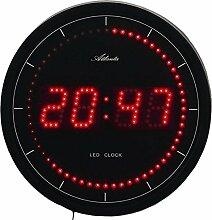 Atlanta Wanduhr mit roter LED Anzeige Digital Quarz - 4212