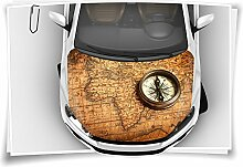 Atlas Kompass Autoaufkleber Airbrush Motorhaube Carwrapping Folie Folierung Rapidair Digitaldruck Luftkanalfolie Aufkleber Auto Tuning