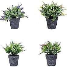 Atlnso 4 Stück Künstlicher Lavendel Mit Melamin