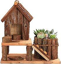 Atlnso Holz Blumentopf Natürliche Kiefer Mini