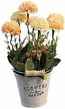 Atlnso Künstliche Hortensie Pflanze Mit