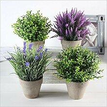 Atlnso Pflanze Künstliche Mini Kunstpflanzen