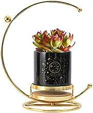 Atlnso Sukkulenten Keramik Blumentopf Metall