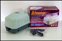 Atman HP-4000 Luft Membran Sauerstoff Pumpe Teich Belüfter Koi Kompressor Eisfreihalter Filter