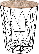 ATMOSPHERA Korbtisch Beistelltisch Metall Korb mit