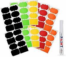 ATOMUS Tafel Etiketten Aufkleber für Gläser 80