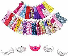 Atrumly Puppen-Kleidungs-Set, Puppenkleidung,