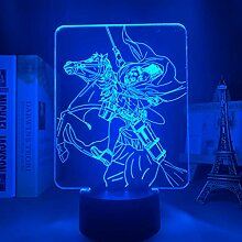 Attack on Titan Erwin Smith kreative Lampe LED 3D