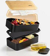 Atthys Lunch Box Schwarzer Bambus   Japanische