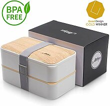 Atthys Lunchbox Weißer Bambus   Japanische Bento