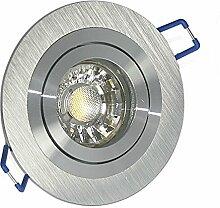 Attraktiver LED Einbaustrahler & GU10 Fassung 230V