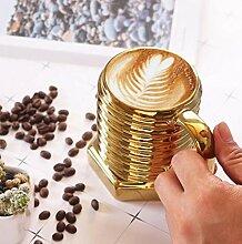 ATYBO 3D-Schraubenform Keramik Cool Mug