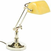 aubaho Bankerslamp Tischlampe Bankers lamp Messing
