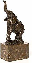 aubaho Bronzeskulptur Elefant Bronze Figur Statue