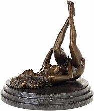 aubaho Bronzeskulptur Frau Erotik Akt Kunst im
