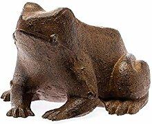 aubaho Figur Frosch braun 14cm Skulptur 1kg