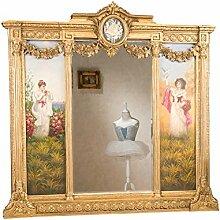 aubaho XXL Spiegel mit Gemälde Louis XVI