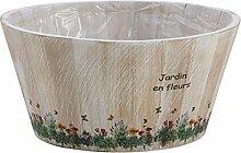 Aubry Candy Blumenkasten, rund, aus Holz