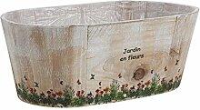 Aubry Gaspard Blumenkasten, oval, aus Holz