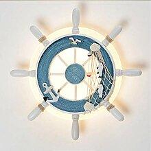 Auccy Kreative LED Wandleuchte Pirat Ruder