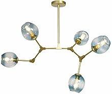 Auccy Modern Glas Kronleuchter 5-Flammig, Kreative