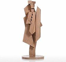Auch Akkordeonspieler Figur, Sandstein Textur