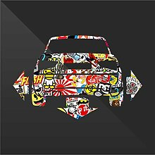 Audi A1 Sticker Bomb Down and Out DUB - Decal Cars Motorcycles Helmet Wall Camper Bike Adesivo Adhesive Autocollant Pegatina Aufkleber - cm 24